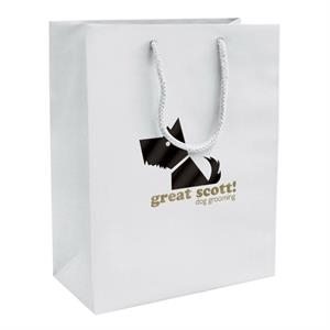 Matte Eurotote Shopping Bag With 2-color, 1-sided Hot Stamp