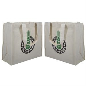 100% Recycled Cotton Tote With 2-color Screen Print