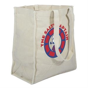 100% Recycled Cotton Tote With A Single-sided Full-color Transfer Imprint