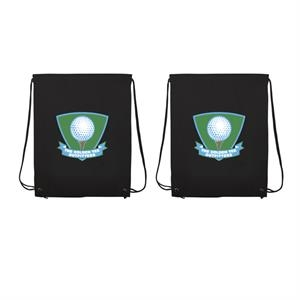 Non-woven Polypropylene Drawstring Backpack With Full-color Imprint, Two Sides