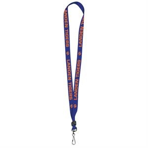 "Single-ply Poly 3/4"" Flat Style Lanyard With Black Swivel Hook And Bead"