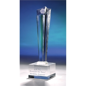 "Crystal World - New For 2013! ""conquest"" Crystal Tower Award From Crystal World"