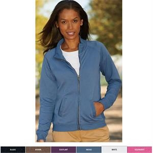 La T Sportswear (r) - 2 X L - Ladies' French Terry Raglan-sleeve Cadet Jacket