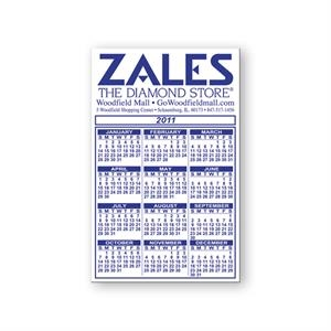 Calendar And Schedule Magnet, Flexible Vinyl Protected With A Plastic Coating