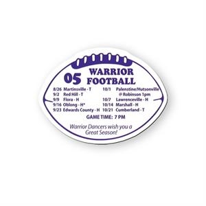 Football Shaped Vinyl Magnet Protected With Plastic Coating
