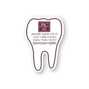 Tooth Shape Vinyl Magnet With Plastic Coating