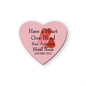 Heart Shape Flexible Vinyl Magnet, Protected With Plastic Coating