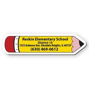 Pencil Shape Flexible Vinyl Magnet, Protected With Plastic Coating