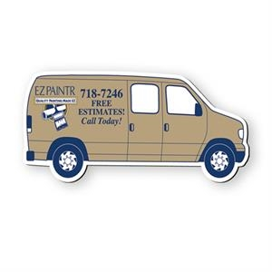 Cargo Van Shaped Vinyl Magnet Protected With Plastic Coating