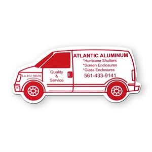 Stock Van Shape Vinyl Magnet With Ultra Clear M