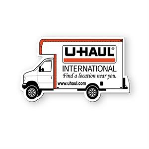 Moving Truck Shaped Vinyl Magnet Protected With Plastic Coating