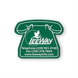 Telephone Shape Vinyl Magnet With Plastic Coating