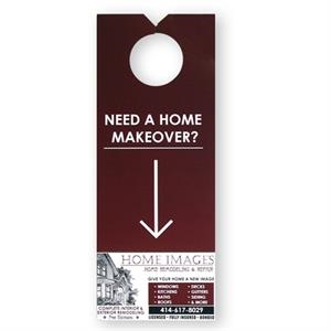 Door Hanger With Perforated Area To Use As A Tear Away Information Card/coupon