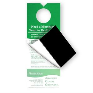 Door Hanger With A Tear Away Magnetic Business Card