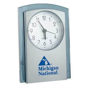 "Stand-up Analog Desk Alarm Clock, 4"" X 5 1/2"" X 1 1/2"""