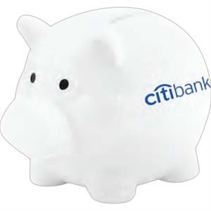 White - Plastic 2 Slot Piggy Bank