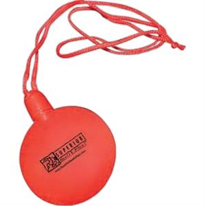 "Red - Plastic, Round Bubble Necklace, 2 1/2"" Diameter"