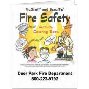Fire Safety - Coloring Book, 8 Pages