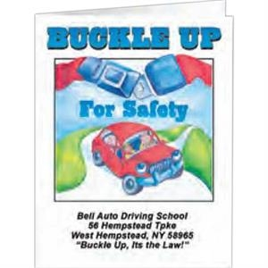Buckle Up For Safety - Coloring Book, 8 Pages