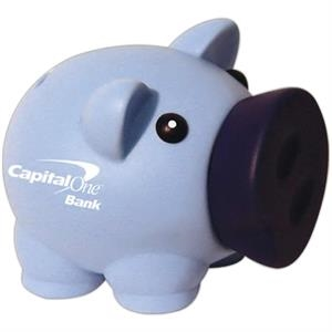 "Blue - Piggy Bank, 4"" X 3"""