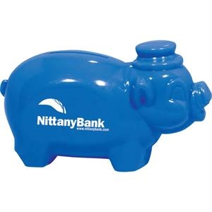 "Blue - Piggy Bank, 4 1/4"" Bank"