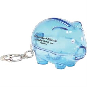 Translucent Blue - Smash It Piggy Bank Keychain