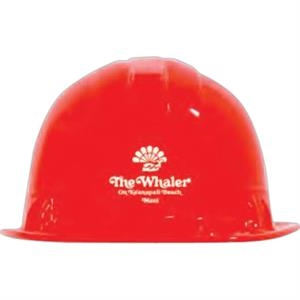 Red - Plastic Construction Hats
