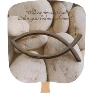 Fishers Of Men - Religious - Fan With Full Color Stock Picture On Coated Front