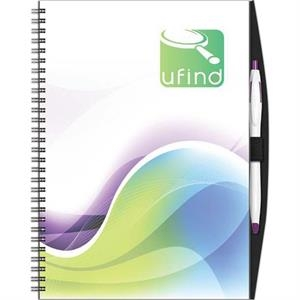 "Clearvalue (tm) - New Valueline 7"" X 10"" Clearvalue Journal With Full Color Insert, Poly Front"