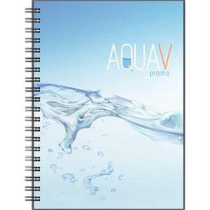 "Clearvalue (tm) - New Valueline 5"" X 7"" Journal With Poly Front Cover And Black Wire Binding"