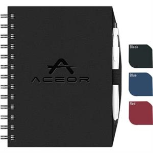 "Valuebook (tm) - New Valueline 5"" X 7"" Paperboard Journal With Penport , Pen, Black Wire Binding"