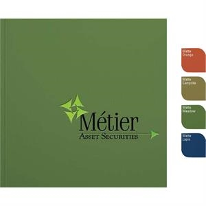 "Perfectbook (tm) - 7"" X 7"" Perfect-bound Square Note Book In A Must-touch Finish, 100 Sheets Paper"