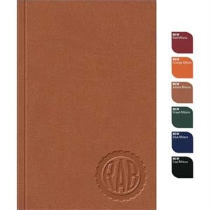 "Perfectbook (tm) - 4"" X 6"" Perfect-bound Large Jotterpad, In Supple Milano Material, 100 Sheets Paper"