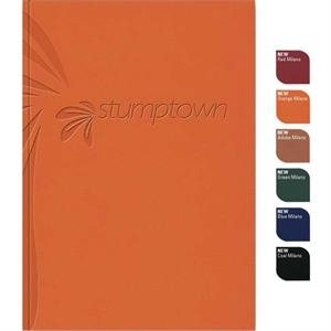"Perfectbook (tm) - 7"" X 10"" Perfect-bound Note Book In Supple Milano Material, 100 Sheets Paper"