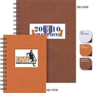 "Sportsbooks (tm) - 5"" X 7"" Small Sports-themed Journal With Die-cut Window And Full-color Insert"