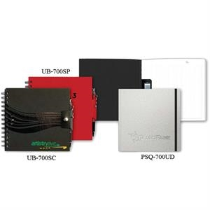 "Techbooks (tm) - 7"" X 7"" Wire-bound Book With Poly Cover, Snap Closure With Pen And 100 Sheets Paper"