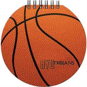 "Sportspad - Basketball-themed Textured Notepad. 60 Sheets Of Blank Paper. 5"" X 5"""