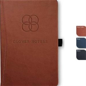 "Pedovapocket (tm) - Pocket Journal, Faux Leather, Full-color Tip-in, 80 Sheets Paper. 5.5"" X 8.5"""