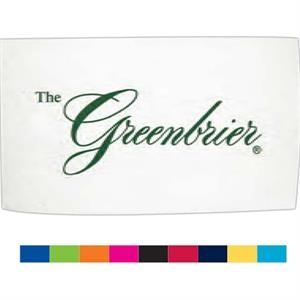 "Turkish Signature (tm) - Blank White Towel - Heavyweight Beach Towel With Double Sheared Velour Finish, 40"" X 70"""