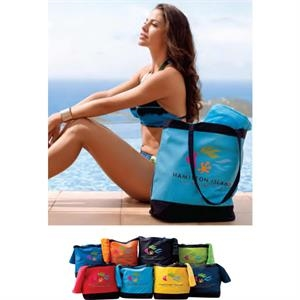 "Island Hopper Bag (tm) - Colorfusion (tm) Transfer - Fashion Tote Bag. 19"" X 17"" X 7"""