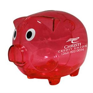 "Big Boy - Large, Plastic Piggy Bank, 5"" X 4"""