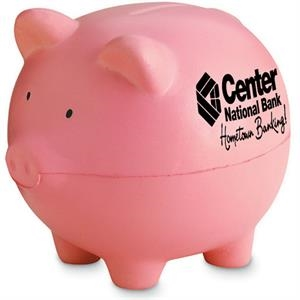 Piggy Bank Shape Stress Reliever With Pretend Coin Slot On Back