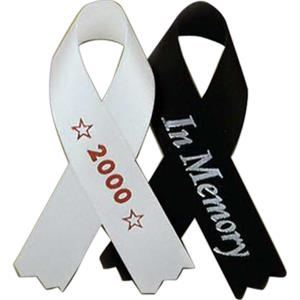 "Pin Attached - Printed Awareness Ribbons, 3 1/2"" (100 Per Bag)"