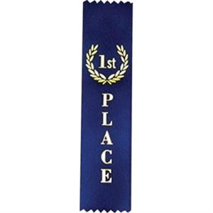 "1st Place - Standard Stock Placing Ribbon. 2"" X 8"" With Pinked Top And Bottom"