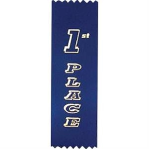 "3rd Place - Standard Stock Placing Ribbon. 2"" X 6"" With Pinked Top And Bottom"