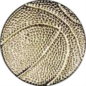 Basketball - Chenille Gold Finish Letter Pin With Clutch Back Attachment