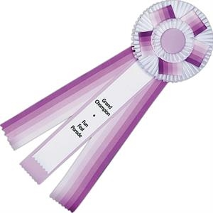 Spectrum Custom Rosette Ribbon With Button, Streamers, And Underlay