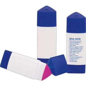 Glue Stick. Triangle Shape. Instructions Pre-printed On One Side. Imprinted