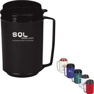 Classic - Twelve Ounce Double Wall Plus Foam Insulated Mug With Spill Resistant Lid