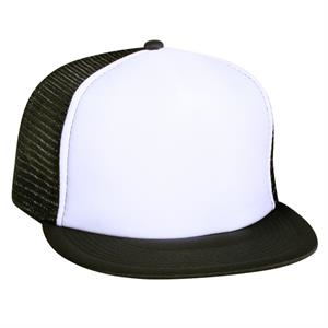Polyester Foam Front Flat Visor With Nylon Mesh Back. Blank